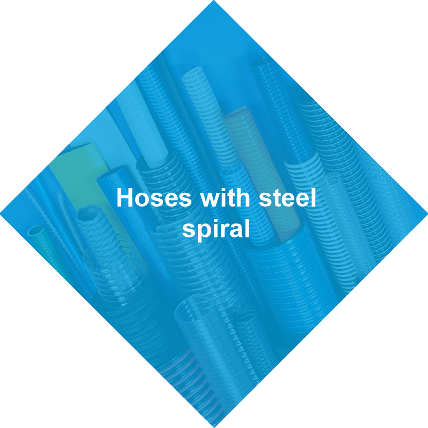 Hoses with steel spiral